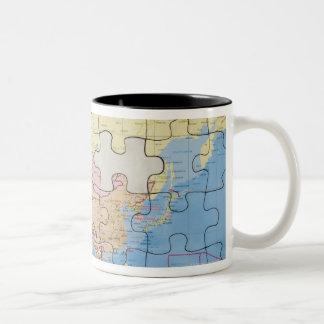 Puzzle Globe with two pieces missing Mugs
