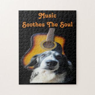 Puzzle Guitar Dog
