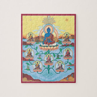 PUZZLE IN TIN - 8 Medicine Buddhas-Healing Masters