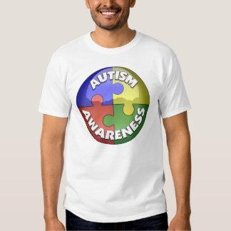 Puzzle Lens 4 color puzzle piece pinwheel T-shirt