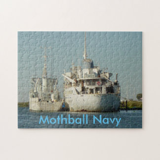Puzzle, Mothball Navy Jigsaw Puzzle