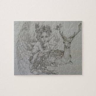 Puzzle of angel and Oshika