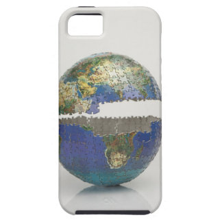 Puzzle of the globe case for the iPhone 5