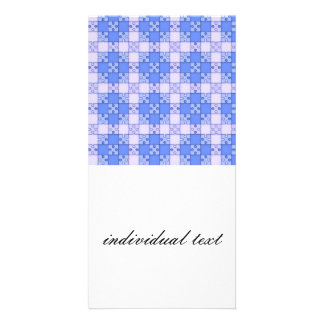 puzzle pattern blue personalized photo card