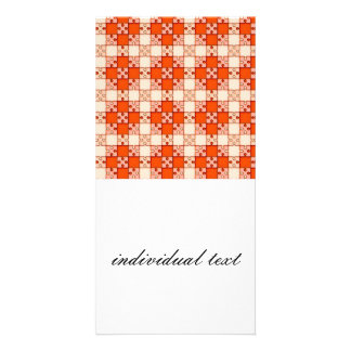 puzzle pattern red photo card template