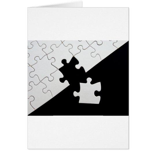 Puzzle Piece Card