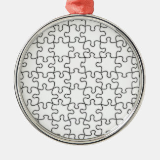 Puzzle Pieces  (Add Background Color or Image) Christmas Ornament