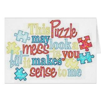Puzzle Pieces Autism Card