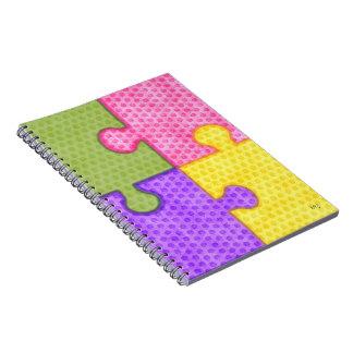 Puzzle Pieces Bright Notebook