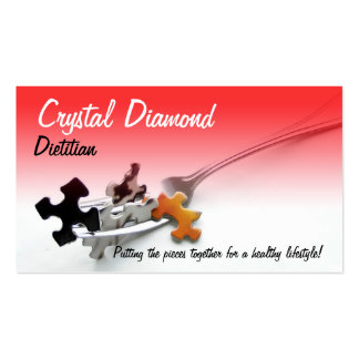 Puzzle Pieces & Fork Pack Of Standard Business Cards