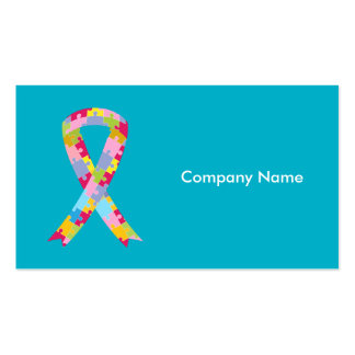 Puzzle Pieces Ribbon Business Card Pack Of Standard Business Cards