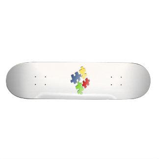 Puzzle Pieces Skate Deck