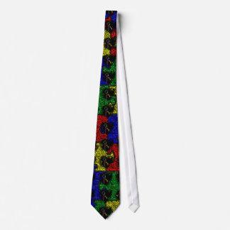 Puzzle Ribbon Grunge Heart Tie