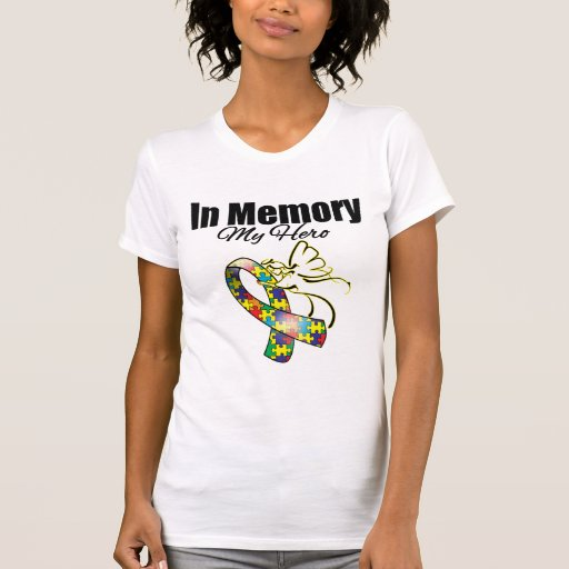 Puzzle Ribbon In Memory of My Hero T Shirts