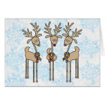 Puzzle Ribbon Reindeer - Autism Greeting Card
