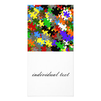 Puzzle Stones Photo Card Template