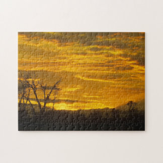 Puzzle, Sunset on the Green River, Wyoming Jigsaw Puzzle