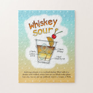 PUZZLE - WHISKEY SOUR RECIPE COCKTAIL ART