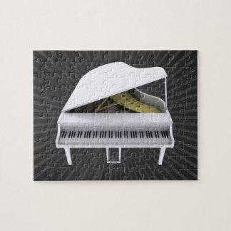 Puzzle: White Grand Piano Jigsaw Puzzle