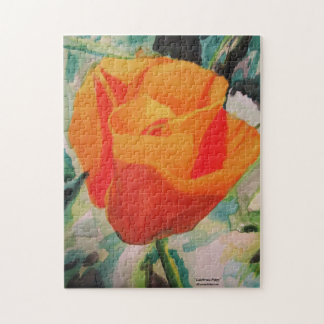 """Puzzle with """"California Poppy"""" by ALarsen Artist"""