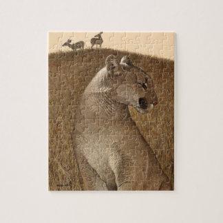 "Puzzle with Cougar & Mule Deer ""NATURAL ORDER"