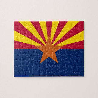 Puzzle with Flag of Arizona State