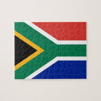 Puzzle with Flag of South Africa