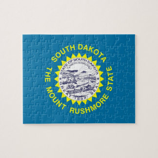 Puzzle with Flag of South Dakota State
