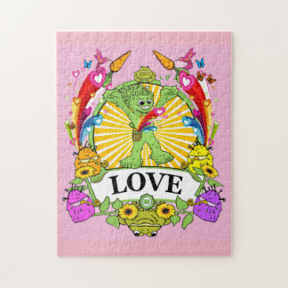 Puzzle with Gift Box - Munchi Power! LOVE HEARTS