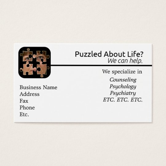 Puzzled About Life Business Card
