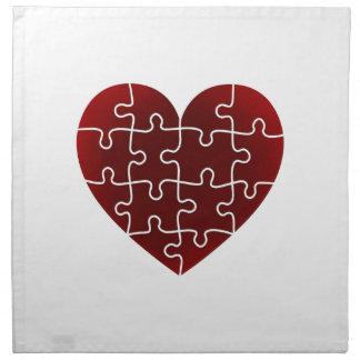 Puzzled Hearts Napkin