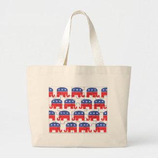Puzzled Republican Elephants Tote Bag