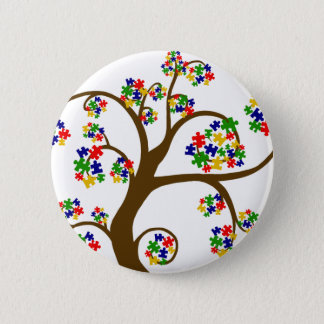 Puzzled Tree of Life 6 Cm Round Badge