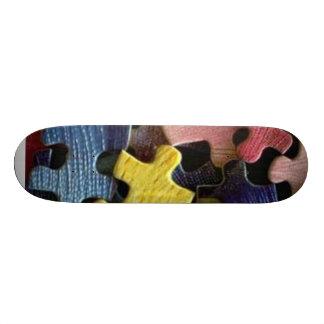 Puzzles Skate Board