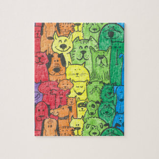 Puzzling dog jig jigsaw puzzle