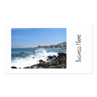 PV View With Crashing Wave Business Card
