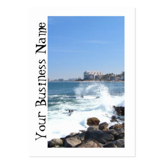 PV View With Crashing Wave Business Cards