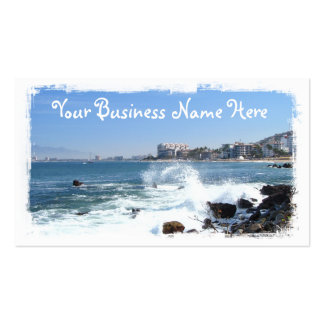 PV View With Crashing Wave Business Card Templates