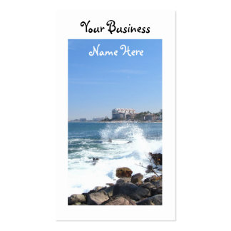 PV View With Crashing Wave Business Card Template