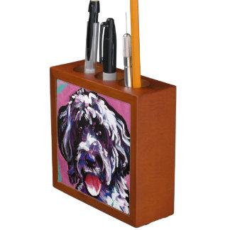 pwd Portuguese water dog pop dog art Desk Organiser