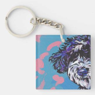 pwd Portuguese water dog pop dog art Key Ring