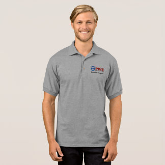 PWE Men's Gildan Jersey Polo Shirt, Sport Grey