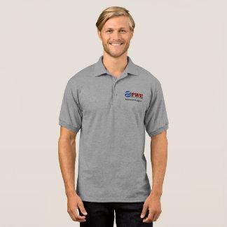 PWE Men's Gildan Jersey Polo Shirt, Sport Grey