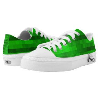 PXL Pattern Green Low Tops