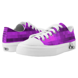 PXL Pattern Purple Low Tops