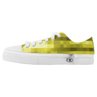 PXL Pattern Yellow Low Tops