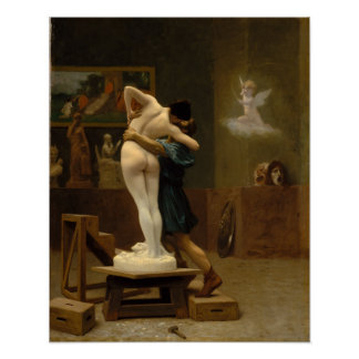 Pygmalion and Galatea by Jean-Leon Gerome Poster