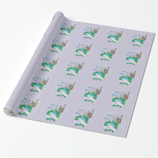 Pygmy Goat Baby's First Christmas Wrapping Paper