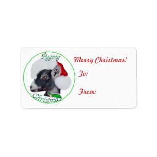Pygmy Goat Christmas Gift Tag Sticker Address Label
