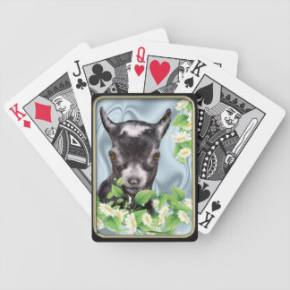 Pygmy Goat Daisies Bicycle® Playing Cards